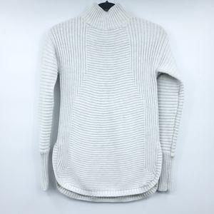 Dakini Mock Neck Ribbed Cable Sweater XS
